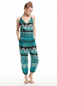 Cappi Block Printed Cotton Jumpsuit
