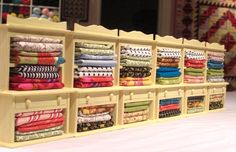 Mini Quilt Fabric Cabinets