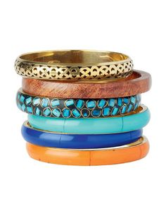 stacked colorful bangles