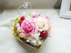 Preserved flower Ring pillow.