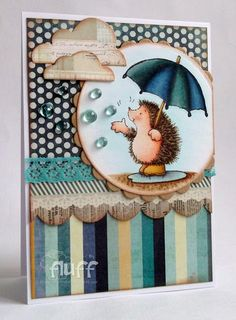 Stampin Fluffnstuff: I {heart} Penny Black love the raindrops