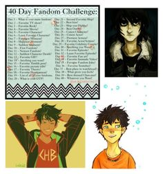 """Day 3: Percy Jackson and the Olympians <3"" by the-pastel-goth ❤ liked on Polyvore"