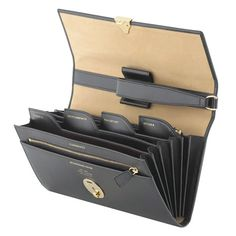 Anything that minimizes travel hassles is fine by us. Made with black pigskin, this lockable travel wallet by Smythson features gold-stamped pockets for Packing List For Travel, Travel Bags, Handbags On Sale, Luxury Handbags, Designer Handbags, Leather Wallet, Leather Bag, Leather Journal, Travel Necessities