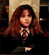 Hermione back in them innocent days...