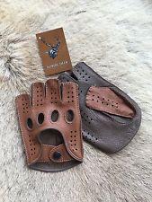 Fitness Leather Gloves Fingerless Style for men's 2016 Driving Gloves Model