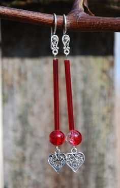 Handmade Sterling Silver Red Silver Lined by KarmaKittyJewelry $16.00