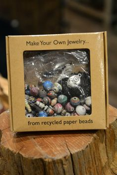 Recycled Paper Jewelry Kit Our Fair Trade Recycled Paper Jewelry Kit would make a great gift for any artist, child or jewelry lover in your life!  Now anyone can make Fair Trade Jewelry!