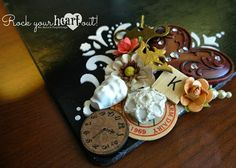 Decorative Chalkboard Clipboard by Ms. Ruin's Playthings.  Details on my blog.