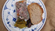 Ukrainian aspic (Kholodets) - it's bone broth gelatinized plus pulled pork, beef, and chicken.