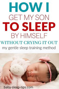 How to get your baby to sleep on their own! This is the one thing I do to get my newborn to sleep on his own without a fight - it works like magic every time. Gentle Sleep Training, Sleep Training Methods, Kids Sleep, Baby Sleep, Sleeping Patterns For Babies, Cry It Out, Miracle Baby, Sleep Schedule, Baby Grows