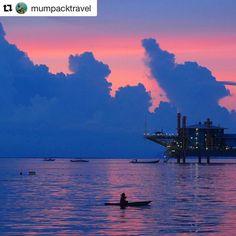 Repost @mumpacktravel  Mabul Island sunset  #borneo #sunset #travelingkids #mabul #mumtravels #instasunset