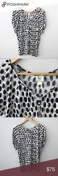 Anthropologie Weston Wear Dolman Dot Top Size XS Beautiful Weston Wear dolman Top purchased at Anthropologie. This was worn once or twice and is in excellent condition. Size is XS. Sorry no holds or trades. I will be adding much more to my closet, thank you for stopping by. 💗 Anthropologie Tops Blouses
