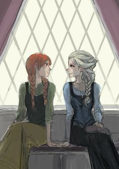 """Anna and Elsa from """"Frozen"""" - Art by Figgy Disney Princess Art, Disney Princess Pictures, Disney Fan Art, Disney Love, Frozen Disney, Frozen And Tangled, Frozen Fan Art, Anna Y Elsa, Frozen Elsa And Anna"""