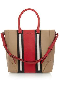 Givenchy Medium Lucrezia bag in camel, red, white and black leather  | NET-A-PORTER