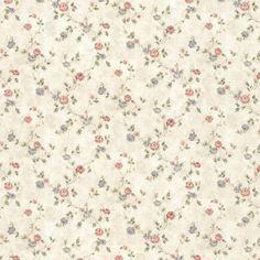 Vintage Rose englische Landhaus Satintapeten kleine Rosen Art.-Nr.: 44418