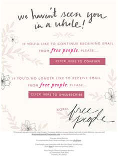 free people reengagement campaign