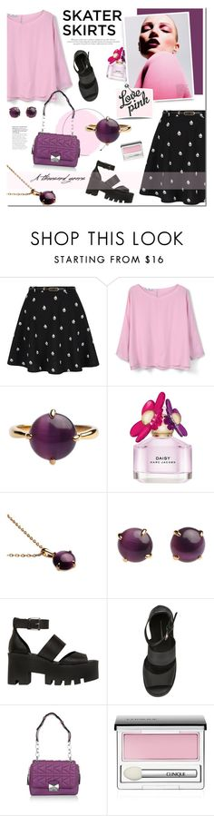 """Mnemosyne Jewelry"" by mada-malureanu ❤ liked on Polyvore featuring Yumi, MANGO, Marc Jacobs, JEM, Windsor Smith, Karl Lagerfeld, Clinique, jewelry, skaterSkirts and mnemosyne"