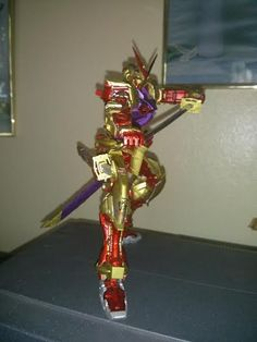 Juan Reyes. My Astray Red Frame Gold Armor on my favorite anime character Saitoh Hajime from Rurouni Kenshin doing his Gatotsu Stance