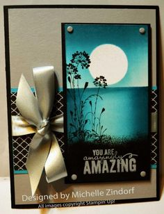 Amazing Moon - MZ by Zindorf - Cards and Paper Crafts at Splitcoaststampers