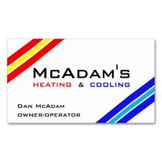 7 best hvac technician business cards images on pinterest business heating cooling hvac heat pump furnace ac business card cheaphphosting Choice Image