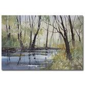 "Found it at Wayfair.ca - ""Pine River Reflections"" by Ryan Radke Painting Print on Wrapped Canvas"