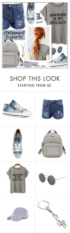 """""""Statement T-shirt - Rosegal"""" by goreti ❤ liked on Polyvore featuring Diesel and rosegal"""