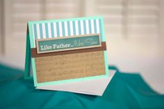 teal music note homemade father's day card by cassandra7creates, $4.00