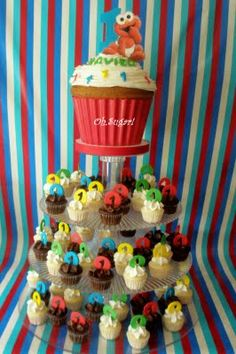 oh,sugar!: Sesame Street Cupcake Tower