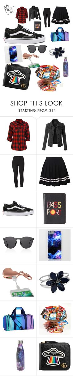 """""""running away from home(new story coming on wattpad soon)"""" by lizalongbottom ❤ liked on Polyvore featuring Full Tilt, LE3NO, Venus, Vans, Lizzie Fortunato, Illesteva, MixBin, PBteen, S'well and Gucci"""