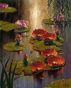 "gyclli: "" Scarlet Lilies …Artist by Bob Pejman. http://pejmaneditions.com/ """