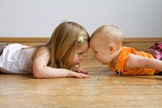 Six Months Old with Her Big Sis | Minneapolis Baby Photography » Poser Design
