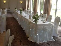 wedding top table swag - Google Search