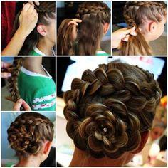 DIY Dutch Flower Braid Updo Hairstyle