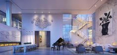 Madison Avenue Penthouse was designed by ODA Architecture in Manhattan, New York. This penthouse has an area of 930 square meter. New York Penthouse, Penthouse For Sale, Luxury Penthouse, Luxury Apartments, Manhattan Penthouse, Luxury Condo, Luxury Interior, Madison Avenue, Casa Loft