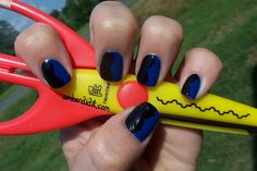 Amber did it!: Tape Mani Featuring Pure Ice French Kiss--so easy when using these specialty scissors!