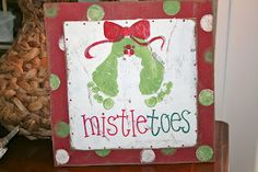 mistletoes feet painting. @Katie Dotson this is perfect for you. I think Im going to do this with B.