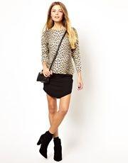 ASOS Mini Skirt With Curved Hem