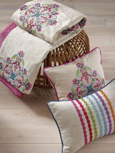 Amytis and Kashan Stripe fabrics from the Persian Garden collection by Osborne & Little www.osborneandlittle.com