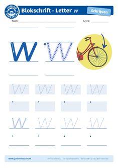 Letter W, Script Lettering, Home Schooling, Einstein, Teacher, Winter, Note Cards, Fine Motor, Kids Learning