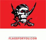 Crimson Pirates Flag