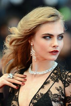 We loved Cara Delevingne's smoky eyes and red pout at the 2013 Cannes Film Festival Red Carpet. And then of course, there are those brows #beauty