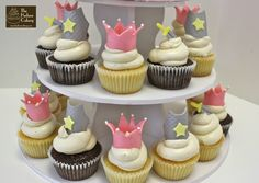 Themed Cupcakes for Birthday Parties {Children& Princess Party Cupcakes, Disney Princess Birthday Party, Princess Party Decorations, Princess Theme Party, Themed Cupcakes, Birthday Cupcakes, Dragon Birthday, 4th Birthday, Joint Birthday Parties
