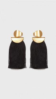 Crater Tassel Earrings by Lizzie Fortunato