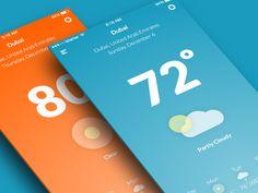 """via Muzli design inspiration. """"Weather app inspiration"""" is published by Muzli in Muzli - Design Inspiration. Ios App Design, Iphone App Design, Design Home App, Mobile Web Design, Interface Design, User Interface, Layout Design, Logo Design, Design Menu"""