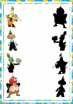educational game find a shadow, the shadow of the heroes whose domestic cartoons Games For Kids, Art For Kids, Activities For Kids, Dots Game, Hidden Pictures, Folder Games, Educational Games, Preschool Worksheets, Close Image