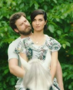 Kivanc Tatlitug and Tuba Buyukustun in Cesur ve Guzel, a Turkish series, 2016-2017