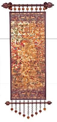 ART0008 distressed hand painted tapestry