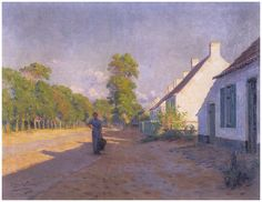 De weg van Veurne naar Adinkerke (1898) Emmanuel Viérin.