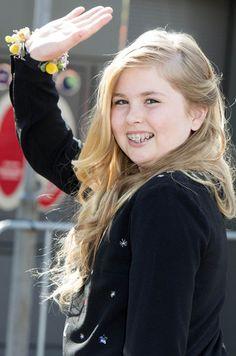 Catharina-Amalia princesa de los Países Bajos en Zwolle, 27 de Abril, el año…