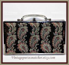Vintage Box Purse,Vintage Lou Taylor Box Purse,Vintage Handbag,Vintage Lou Taylor Handbag,Vintage Pocketbook,Vintage Purse,Vintage Satchel